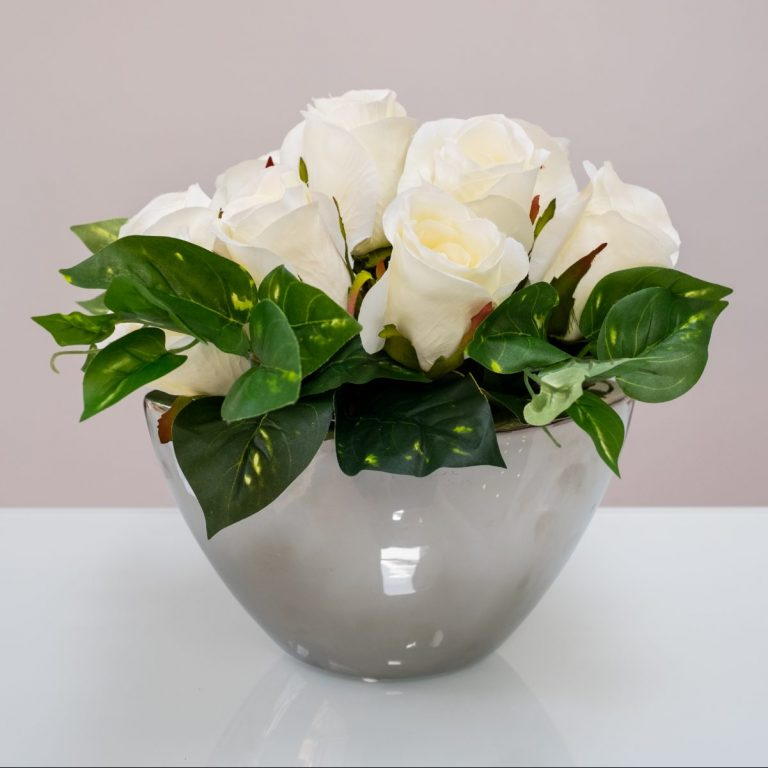 Boat of Luxury Silk Roses (Choice of colours available) & Home - Natalie Branch Floral Design
