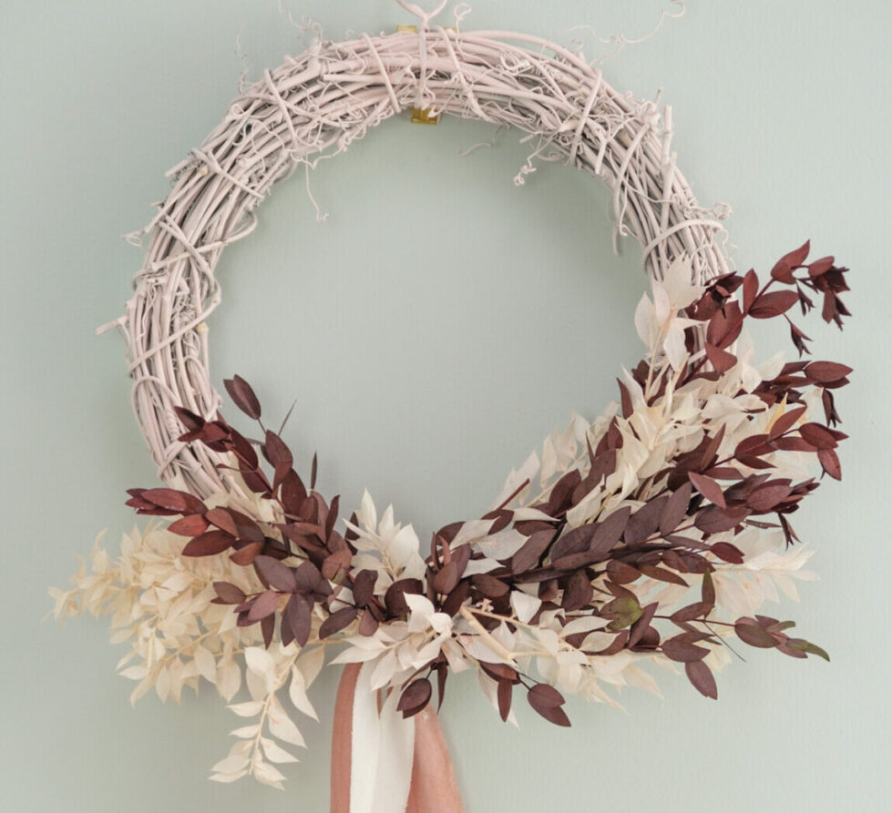 Hand Dyed 100/% Habotai 2m Silk Ribbon with wooden spool ~ sustainable eco wedding decor Rose Water Pink 4 cm Naturally Plant styling